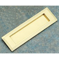 Brass Unlacquered Stepped Edge Letter Box 255x75mm