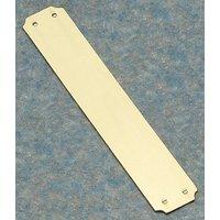 Brass Unlacquered Finger Plate 305x57mm