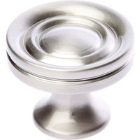 Satin Nickel Decorative Cabinet Knob