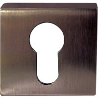 Dark Bronze Euro Cylinder Square Cover 50mm