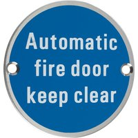 Stainless 76mm Automatic Fire Door Keep Clear