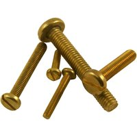 Pack of 10 Machine Screws Pan Brass Self Colour