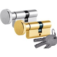 High Security Key and Thumbturn Euro Cylinder 30x30mm to 40x50mm