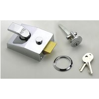 Small Style Double Locking Yale Front Door Lock 85 Polished Chrome