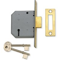Assa Abloy 2.5IN Mortice DeadLock 3 Lever Polished Brass