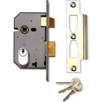 77.5mm Mortice Sashlock Case Oval Profile Matt Chrome