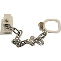 White Door Chain with Ring for UPVC Doors