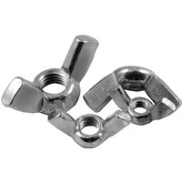 Pack of 10 Wing Nuts Metric BZP
