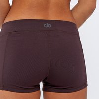 Base Short Sports Leggings Chocolate Aubergine