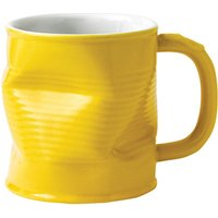 Squashed Tin Can Mug Yellow 7.8oz / 220ml (Single) - Yellow Gifts