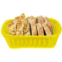 Ridal Polypropylene Rectangular Basket Yellow 29 x 21.5 x 9cm (Single) - Yellow Gifts