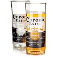 Recycled Corona Extra Beer Bottle Glasses 11.6oz / 330ml (Pack of 2) - Beer Gifts