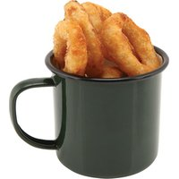 Black Rim Enamel Mug Green 12.5oz / 360ml (Pack of 12) - Mug Gifts