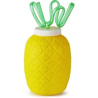 Plastic Pineapple Cup with Krazy Straw 26.4oz / 750ml (Single) - Pineapple Gifts