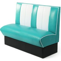 Retro Diner Booth Double Seat Duck Egg Blue (Set of 4) - Gadgets Gifts