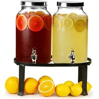 Dual Mason Jar Drinks Dispenser with Stand 10ltr (Case of 2) - Gadgets Gifts