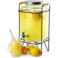 Yorkshire Mason Jar Drinks Dispenser with Stand 8ltr (Case of 2) - Gadgets Gifts