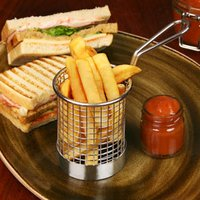 Round Chip Fryer Food Presentation Basket 7.5cm (Single) - Gadgets Gifts