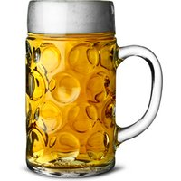 German Beer Stein Glass 2 Pint (Set of 6) - Glass Gifts
