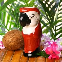 Ceramic Parrot Mug Red 19.4oz / 550ml (Single) - Parrot Gifts
