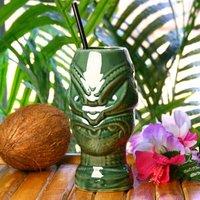 Tiki Headhunter Mug Green 17.6oz / 500ml (Single)