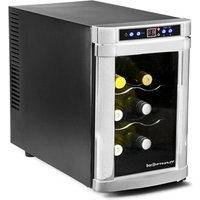 Sommelier 6 Bottle Wine Cellar Black and Silver - Wine Gifts