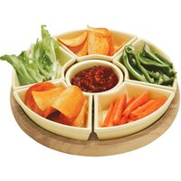 Apollo Lazy Susan with Ceramic Dishes 35cm - Lazy Gifts