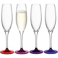 LSA Coro Berry Champagne Flutes 7.9oz / 225ml (Pack of 4) - Lsa Coro Gifts