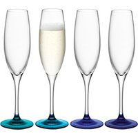 LSA Coro Lagoon Champagne Flutes 7.9oz / 225ml (Pack of 4) - Lsa Coro Gifts
