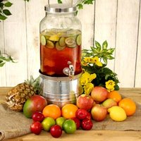 Mason Jar Drinks Dispenser with Ice Bucket Stand 5ltr (Single) - Gadgets Gifts