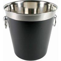 Black Enamel Champagne Bucket - Drinking Gifts