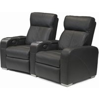 Premiere Home Cinema Seating - 2 Seater Black