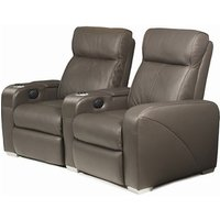Premiere Home Cinema Seating - 2 Seater Brown