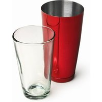 Click to view product details and reviews for Professional Boston Cocktail Shaker Red Tin Glass Set.