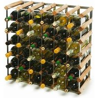 Traditional Wooden Wine Racks - Pine (6x6 Hole [42 Bottles]) - Drinking Gifts
