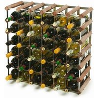 Traditional Wooden Wine Racks - Dark Oak (6x6 Hole [42 Bottles]) - Drinking Gifts