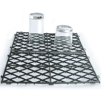Glass Stacking Mats Black (Pack of 10) - Black Gifts