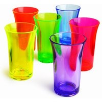 Econ Neon Polystyrene Shot Glasses CE 1.75oz / 50ml (Case of 24) - Shot Glasses Gifts