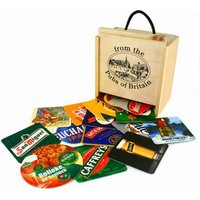 100 Pub Beer Mats in a Box - Drinking Gifts