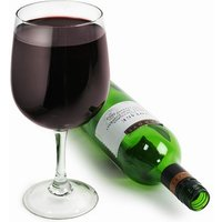 Wine Bottle In A Glass Glass (Single) - Alcohol Gifts