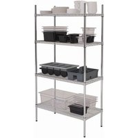 Genware 4 Tier Racking Unit 18 Inch Deep 3ft - Cooking Gifts