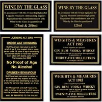 Pub Laws Sign Set - Pub Gifts