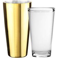 Gold Plated Boston Shaker (Tin & Polycarbonate Glass Set) - Gold Gifts