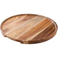 Utopia Acacia Wood Round Platter/Pizza Plate 12inch / 30cm (Single) - Wood Gifts