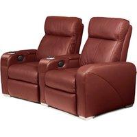 Premiere Home Cinema Seating - 2 Seater Burgundy