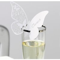 Something in the Air Butterfly Place Cards White (Pack of 10) - White Gifts