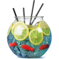 Plastic Cocktail Fish Bowl 105.5oz / 3ltr (Case of 18) - Drinking Gifts