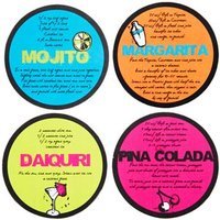 Mix It Card Drinks Coasters 10cm (Pack of 12) - Drinks Gifts