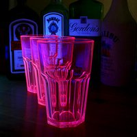 Elite Remedy Polycarbonate Neon Tumblers Pink 14oz / 400ml (Case of 24) - Neon Gifts