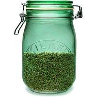 Kilner Round Clip Top Jar Green 1ltr (Case of 12) - Lime Green Gifts